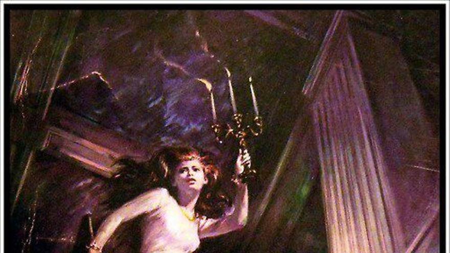Ilustración para novela gótica de Walter Popp