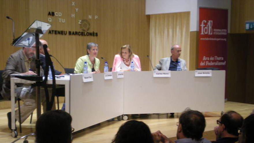 Presentación en Barcelona de Federalistes d'Esquerres,  foto: CRISTINA PALOMAR