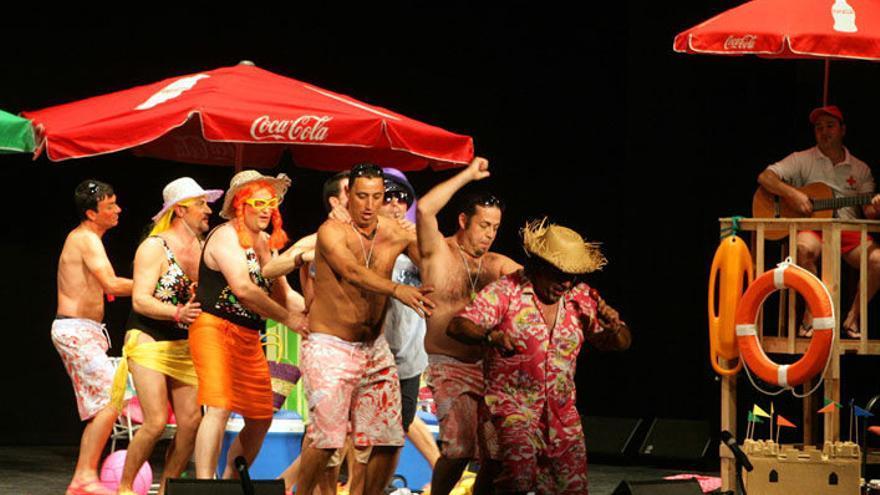 Actuación de Los Legías en la Canción de la risa en una edición anterior