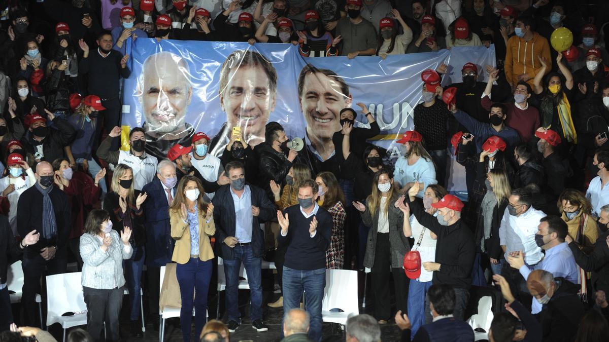 Cierre de campaña de Juntos por el Cambio para las PASO 2021, en La Plata.