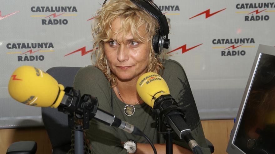 Mònica Terribas, entrevistada en Catalunya Ràdio mientras era directora de TV3. (Foto: Catalunya Ràdio)