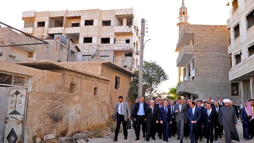La tregua silencia el sonido de los proyectiles de mortero hoy en Damasco