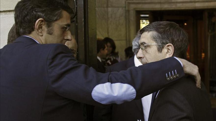 Eduardo Madina y Patxi López en una imagen de archivo