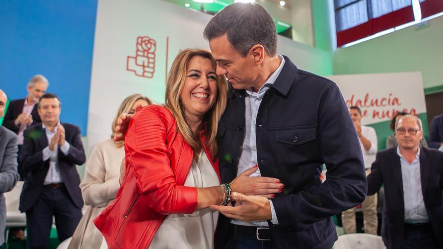"""Pedro Sánchez expresa en Twitter su apoyo a Susana Díaz en el inicio de una campaña """"decisiva"""""""
