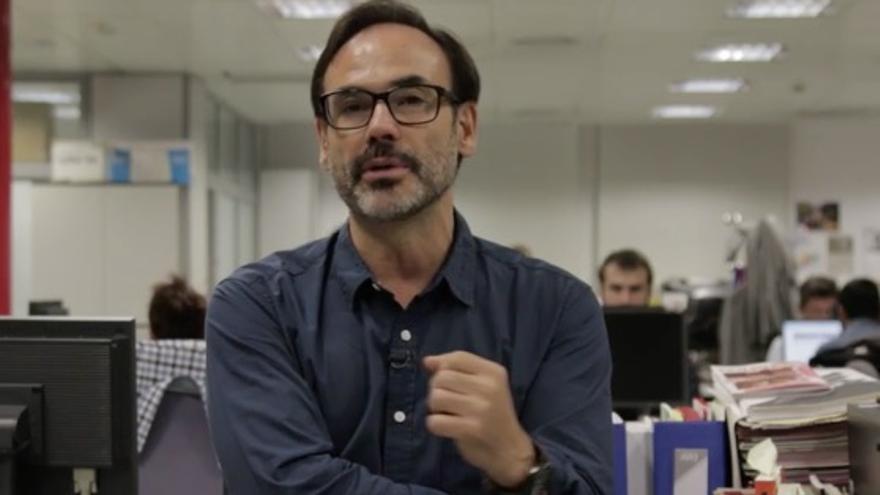 Fernando Garea, en la redacción de El País