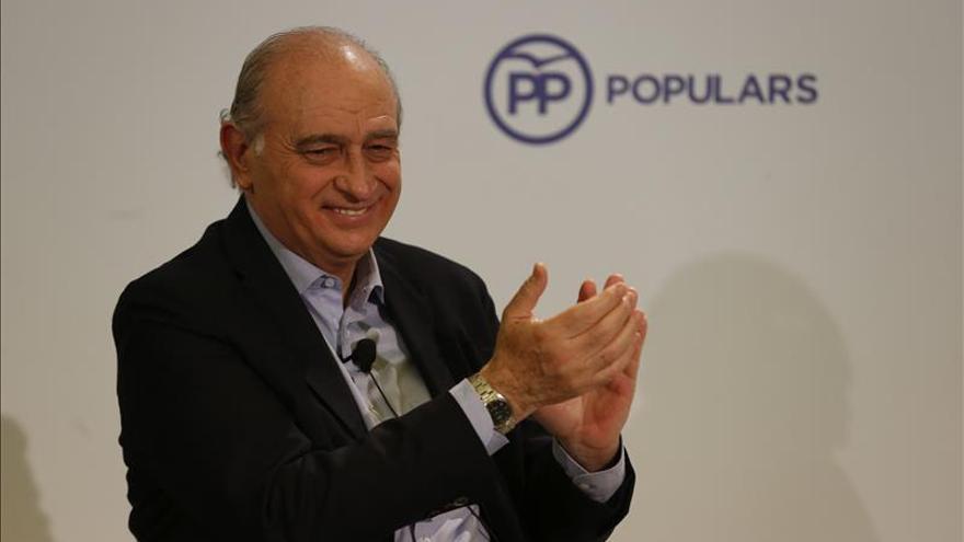El ministro del Interior, Jorge Fernández Díaz, en un acto del PP catalán