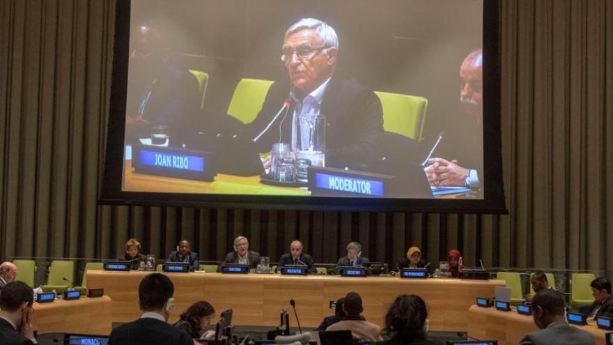 Joan Ribó en la ONU