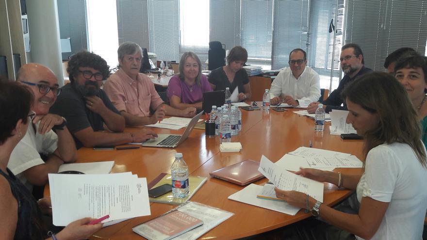 Reunió del Consell Rector de la Corporació Valenciana de Mitjans de Comunicació.
