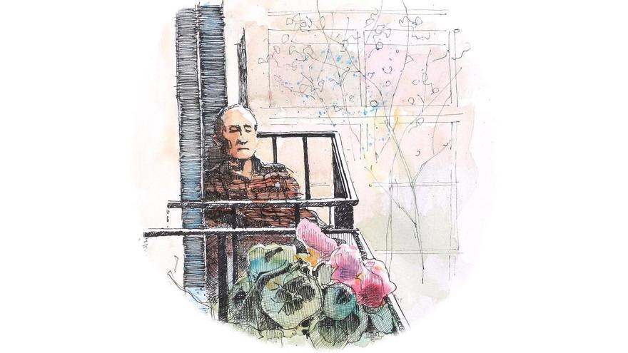 Ilustración de portada de 'Diario de un confinado en Olavide' | ENRIQUE ALDA
