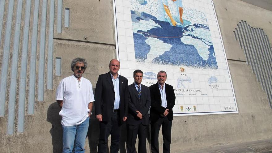 Instalan una pintura mural art stica sobre azulejos en el for Mural nuestra carne