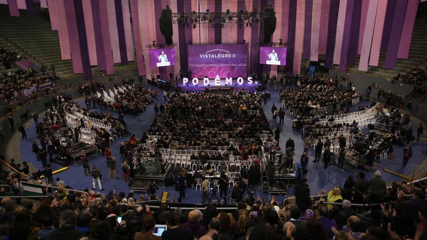 Vista general de Vistalegre durante el discurso de Pablo Iglesias