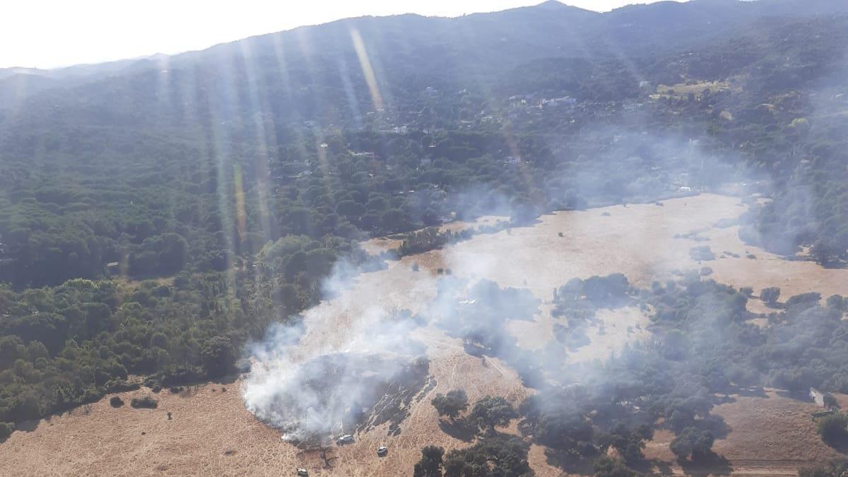 Imagen del fuego tomada por el Infoca