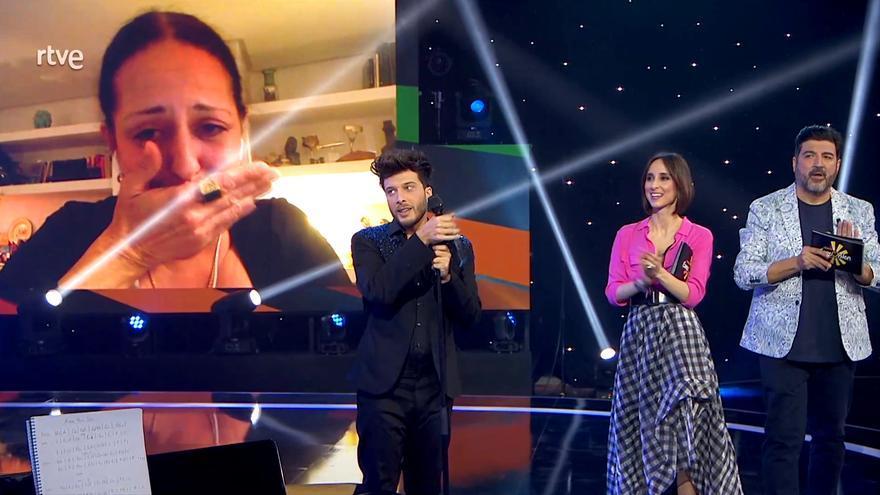 Yolanda Ramos, muy emocionada en 'Destino Eurovisión'