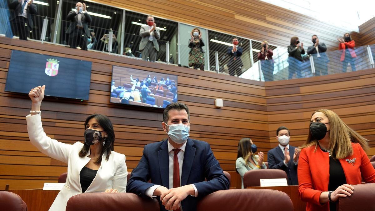El candidato socialista Luis Tudanca en el debate de la moción de censura. EFE/Nacho Gallego