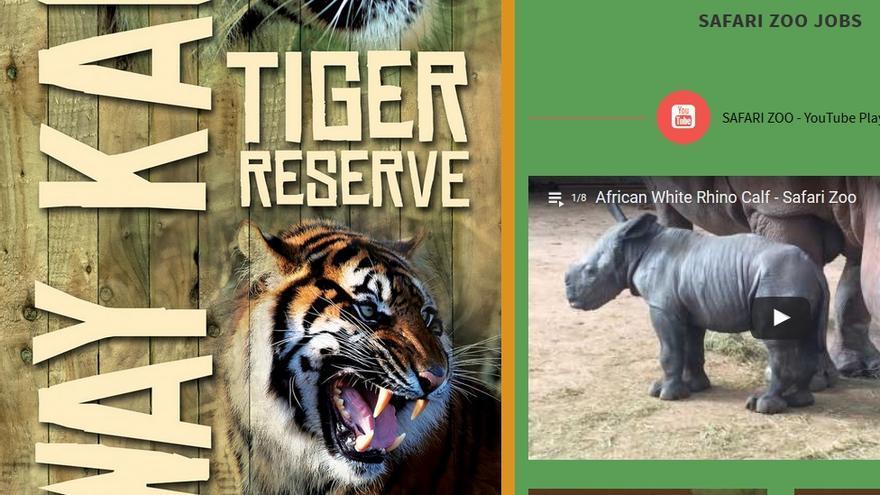 Captura de pantalla de la web del zoo South Lakes Safari en el que han muerto 500 animales en cuatro años