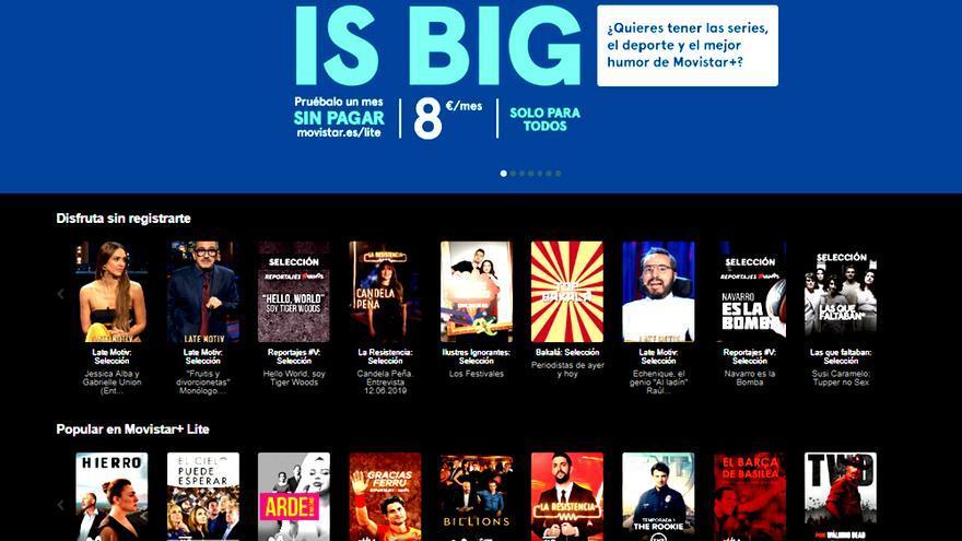 Así es Movistar+ Lite:  ventajas y limitaciones respecto a Netflix y HBO
