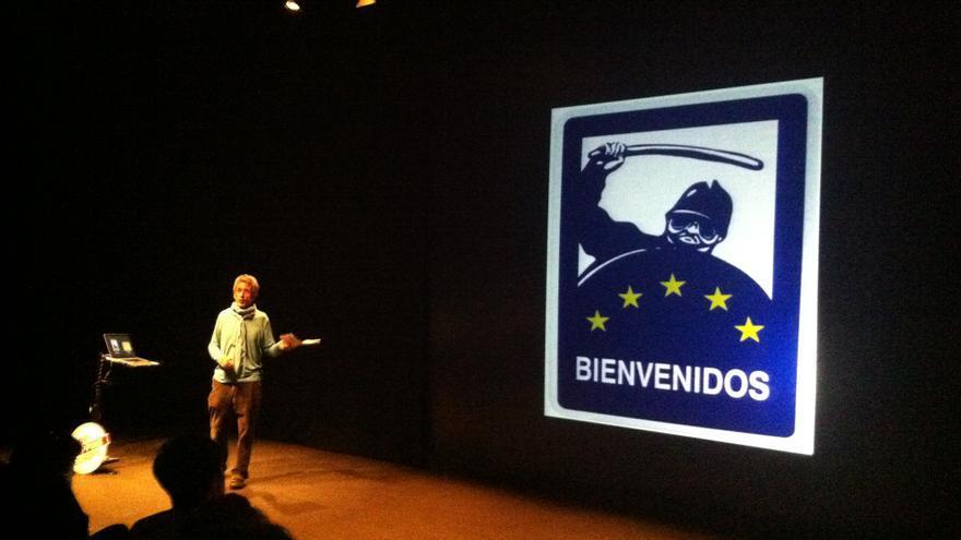 Toni Serra (Abu Ali) durante la presentación del Código Fuente Audiovisual