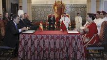 El rey preside en Rabat la donación de copias de manuscritos árabes de El Escorial