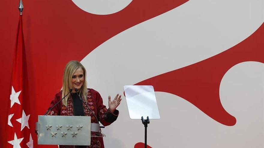 Cristina Cifuentes, durante el acto del día de la Comunidad de Madrid.