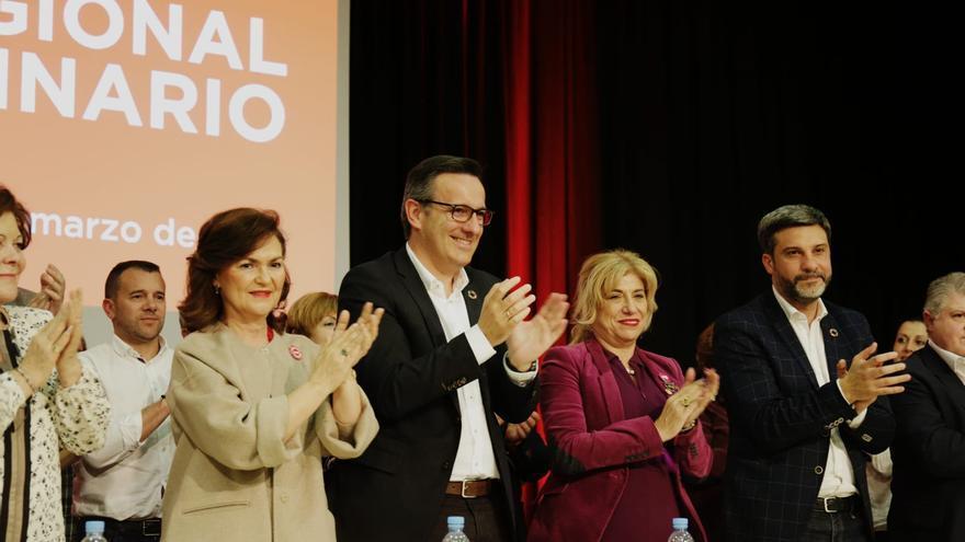 El PSRM presentó las listas electorales en un Comité Regional al que asistió la vicepresidenta del Gobierno de España, Carmen Calvo