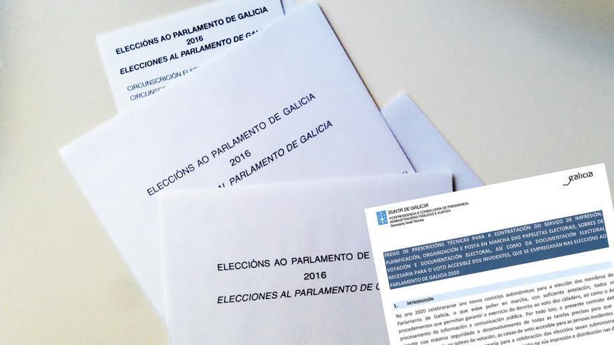 Sobres y papeletas de las autonómicas gallegas de 2016 y licitación de los contratos para las de este 2020