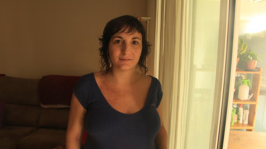 Asia, en su casa de Barcelona.