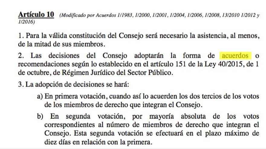 Artículo 10 de la propuesta de actualización del reglamento del Consejo de Política Fiscal y Financiera.