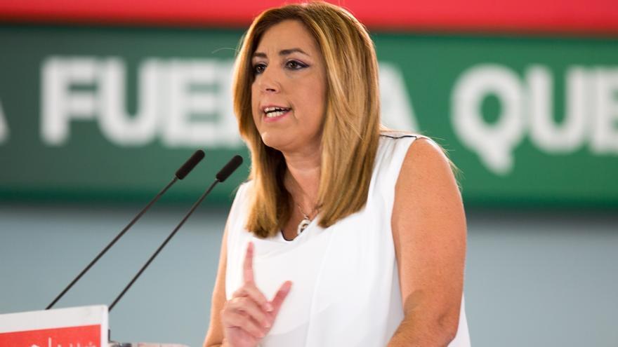 """Susana Díaz rechaza """"bandos"""" en el PSOE y pide reflexión """"profunda"""" sin un congreso """"por intereses personales"""""""