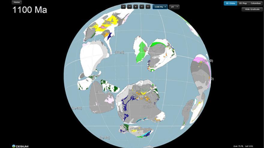 Reconstrucción del origen de Rodinia hace 1.100 millones de años