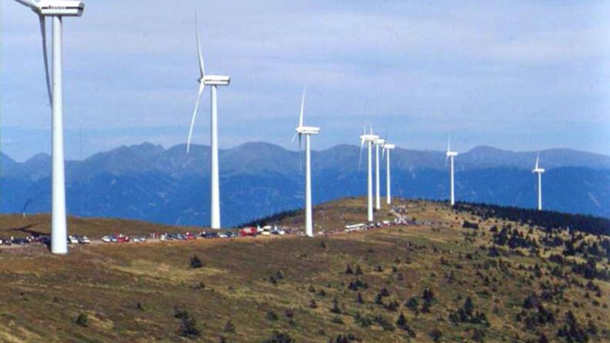 Aerogeneradores de energía eólica.