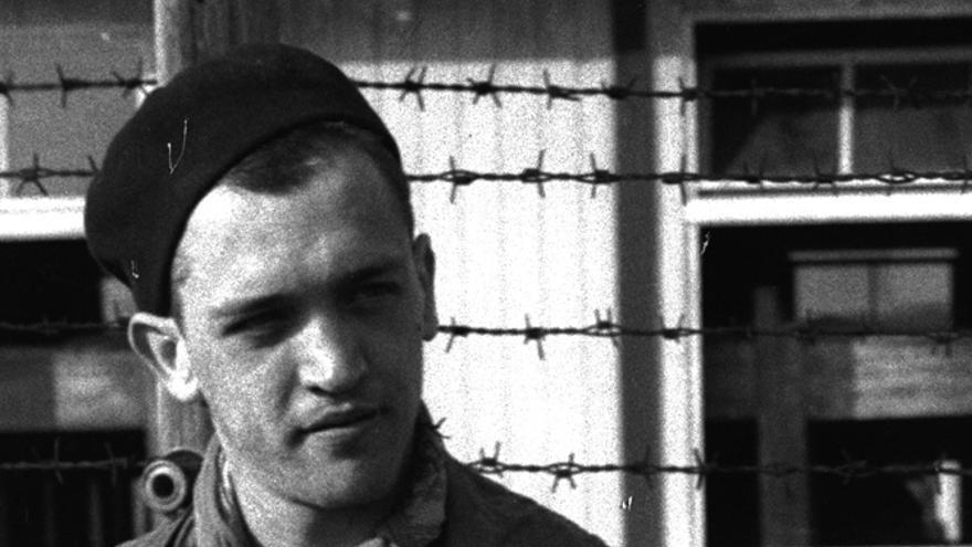 Francesc Boix fotografiado en Mauthausen / MHC (Fons Amical de Mauthausen)