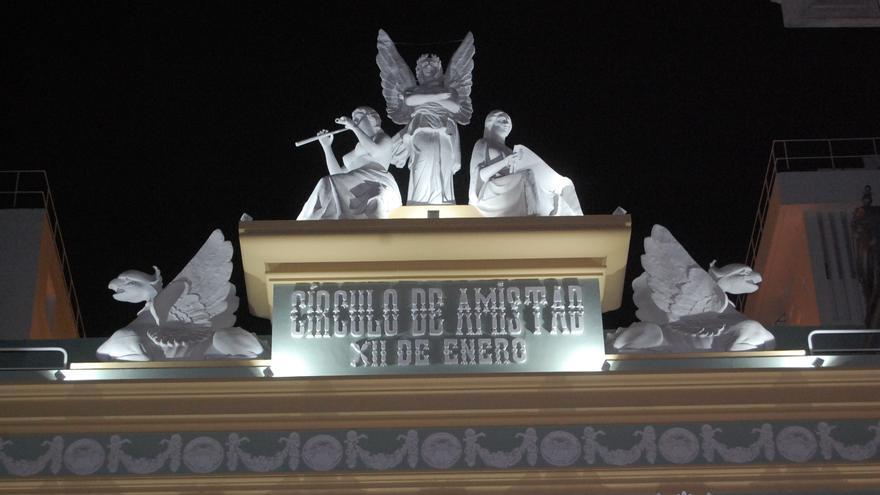 Imagen de la sede del Círculo de Amistad XII de Enero, en la calle Ruiz de Padrón de Santa Cruz