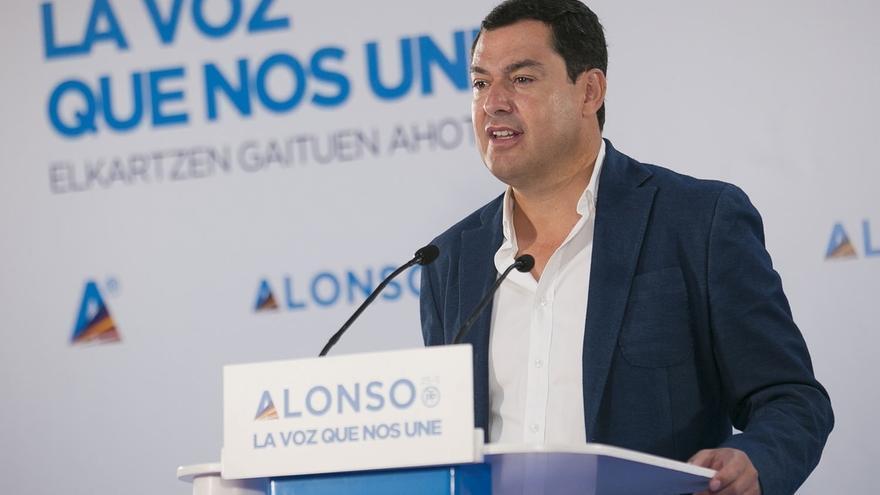 """Juanma Moreno insiste en que """"no es tiempo de egoísmos ni de tacticismo"""" y """"España necesita altura de miras"""""""