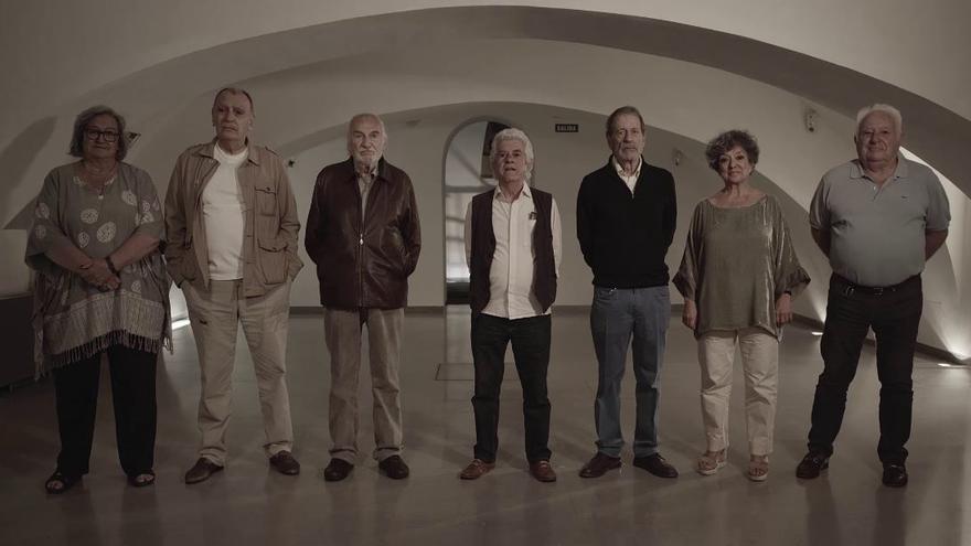 Algunos de los responsables de la película, cuarenta años después.JPG