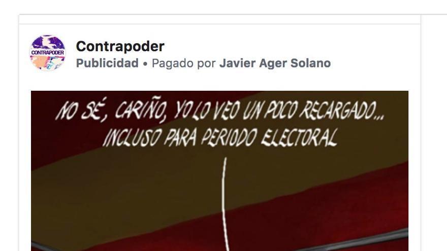 Viñeta compartida en un grupo falso de Facebook para promover la abstención de la izquierda y favorecer al PP