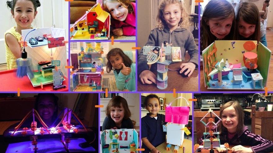 Los kits de Roominate permiten construir una gran variedad de estructuras