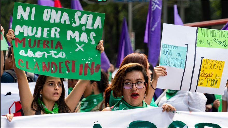 Manifestación por un aborto legal