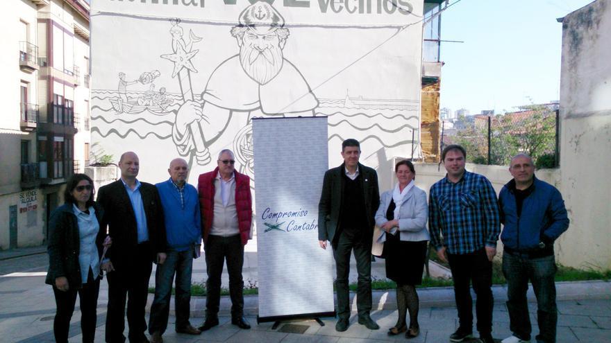 Compromiso por Cantabria, liderado en Santander por Paco Sierra, ha presentado su candidatura en el Cabildo de Arriba.