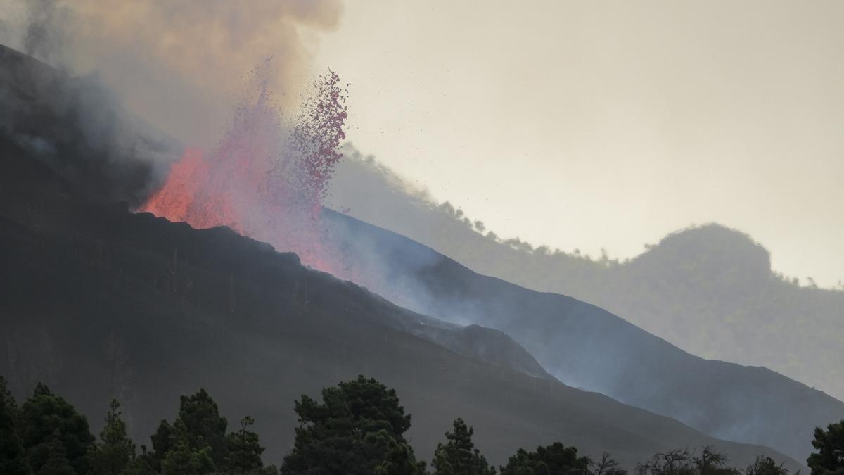 El volcán de La Palma, en erupción este martes 28 de septiembre