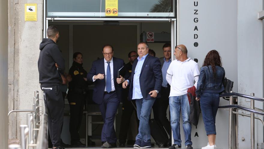 Miguel Ángel Ramírez, a la salida del juzgado de guardia tras su detención