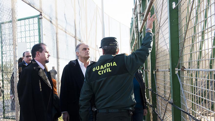 Los eurodiputados Carlos Iturgaiz y Esteban González Pons, durante su visita a Melilla / FOTO: PP Europa