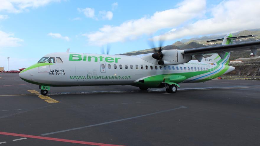 ATR de la aerolínea Binter.