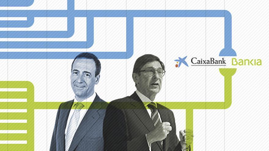 La fusión de Bankia y CaixaBank eleva los riesgos de reducir la competencia en el sistema financiero español