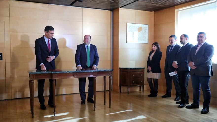 Sánchez acuerda con PNV adecuar la estructura del Estado al reconocimiento de las identidades territoriales