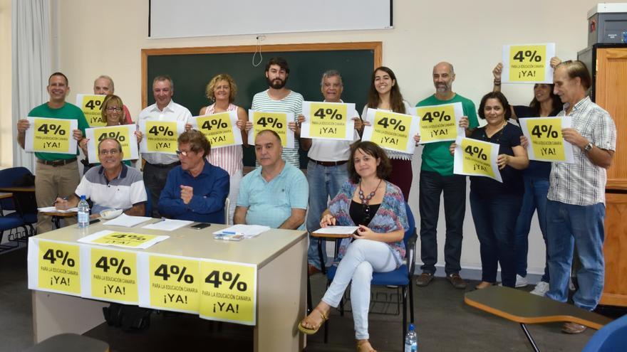 Manifiesto '¡Por un 4% para Educación ya!' , promovido por sindicatos, estudiantes y docentes.