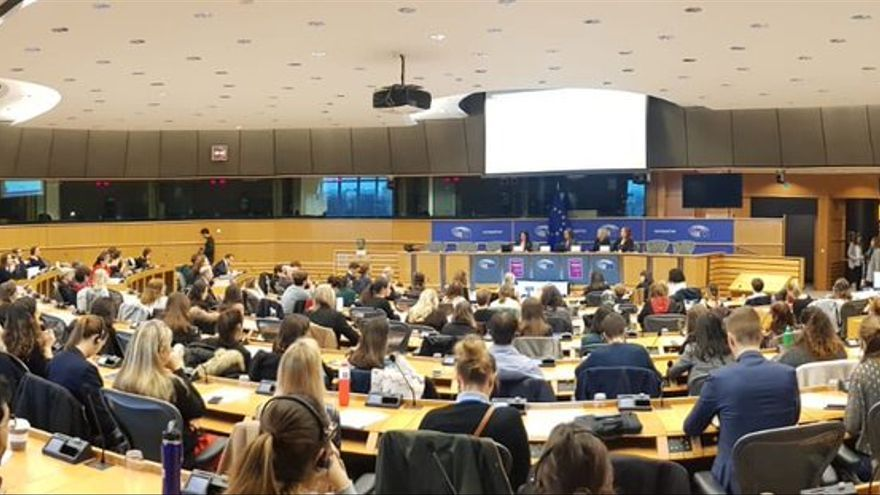 Jornada de MeTooEP en el Parlamento Europeo, el 6 de febrero de 2019.