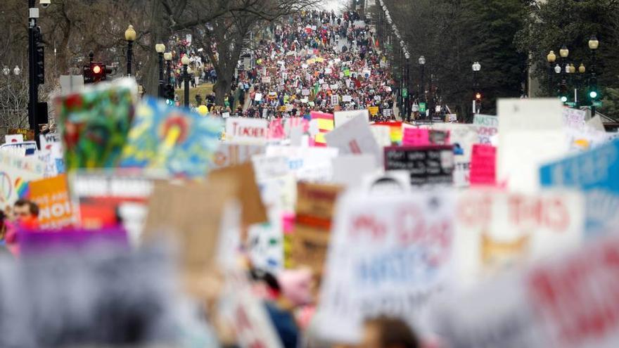 Marcha de las Mujeres contra Trump en Washington