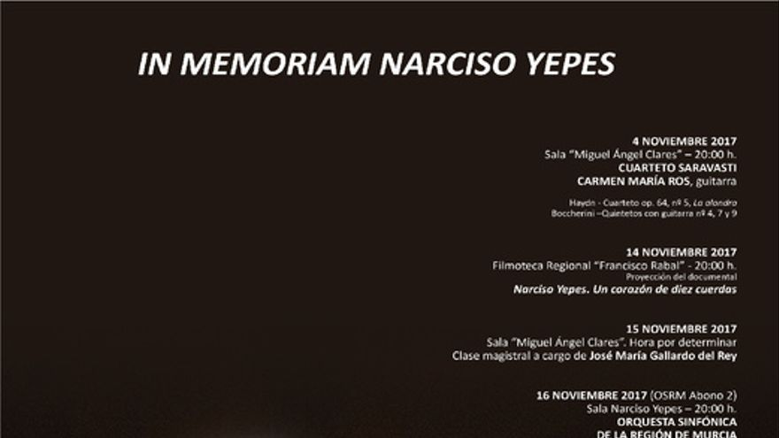 Cartel In Memoriam Narciso Yepes