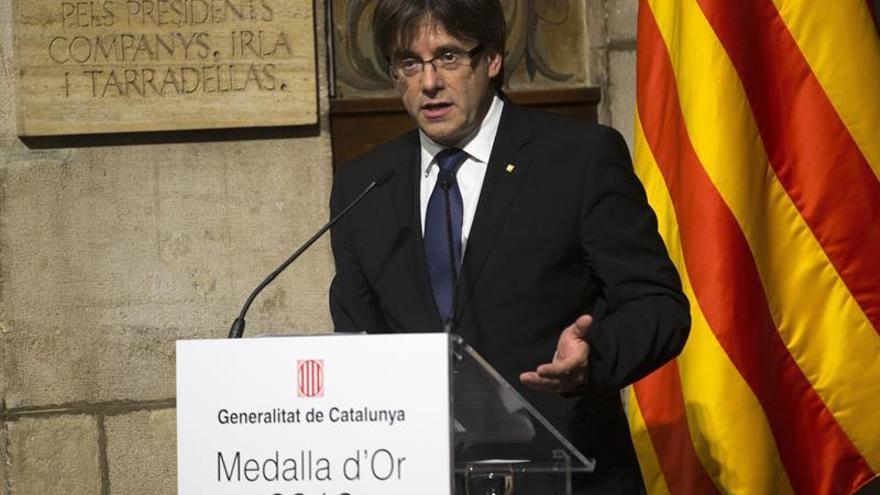 """Puigdemont espera que la Diada de este año sea el """"empujón"""" para lograr la secesión"""