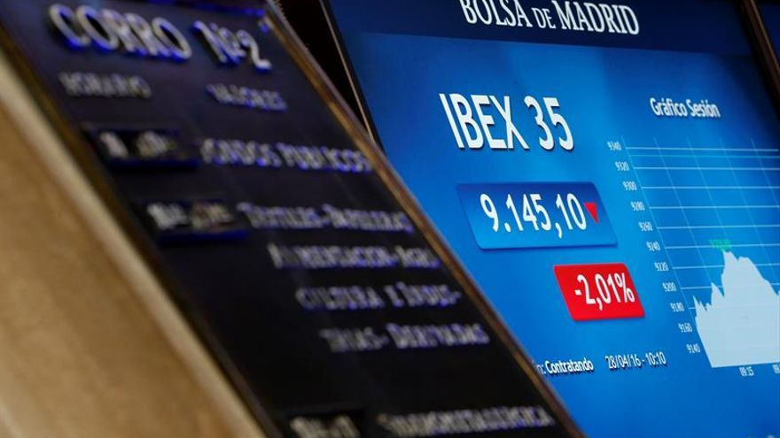 El IBEX 35 intenta romper con cinco sesiones de caídas al subir el 0,72 por ciento